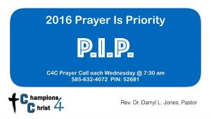 Prayer is Priority