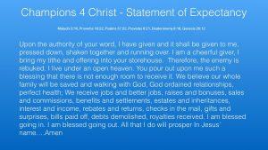 statement of expectancy