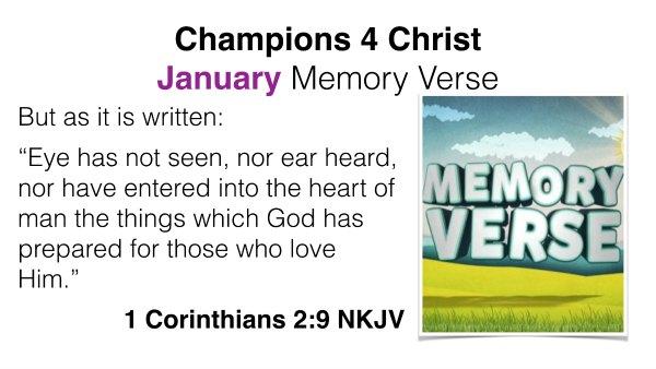 january memory verse