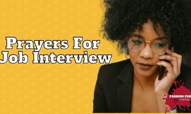Prayer For A Job Interview